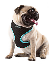cheap -Cat Dog Harness Breathable Adjustable / Retractable Solid Colored Mesh Nylon Rose Green Blue