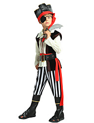 cheap -Pirate Costume Boys' Child's Halloween Halloween Carnival Children's Day Festival / Holiday Polyster Outfits Black Solid Colored Halloween