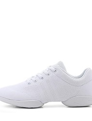 cheap -Women's Dance Shoes Knit Dance Sneakers Sneaker Thick Heel Customizable White / Performance / Practice / EU39
