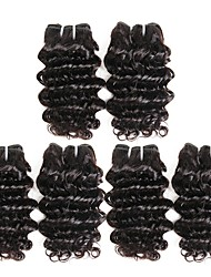 cheap -3 Bundles Malaysian Hair Deep Wave Human Hair Unprocessed Human Hair 300 g Natural Color Hair Weaves / Hair Bulk One Pack Solution Human Hair Extensions 8-28 inch Natural Color Human Hair Weaves / 8A
