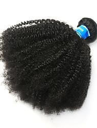 Недорогие -1 комплект Бразильские волосы Афро Квинки Не подвергавшиеся окрашиванию Человека ткет Волосы Afro Kinky плетенки 8-26 дюймовый Нейтральный Ткет человеческих волос Лучшее качество 100% девственница