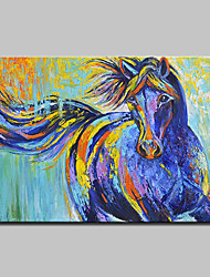 cheap -Mintura® Hand Painted Abstract Horse Animals Oil Painting on Canvas Modern Wall Art Picture for Home Decoration Ready To Hang