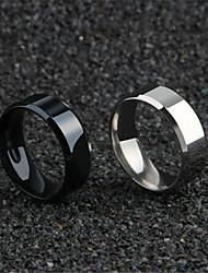 cheap -Couple Rings Hollow Silver Gold Black Titanium Steel Blessed Faith Simple Romantic Korean 1pc 6 7 8 9 10 / Men's / Band Ring