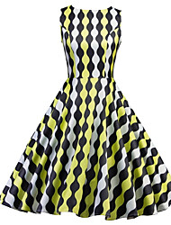 cheap -Women's Going out Slim Sheath Dress High Waist