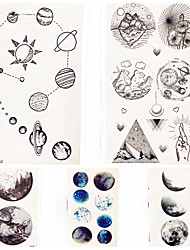cheap -decal style temporary tattoos hand arm wrist temporary tattoos 5 pcs totem series cartoon series smooth sticker eco friendly body arts party evening