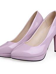cheap -Women's Heels Stiletto Heel Comfort Daily PU Almond Black Purple