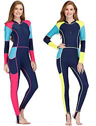 cheap -Women's Rash Guard Dive Skin Suit Spandex Swimwear Anatomic Design Full Body Front Zip - Surfing Windsurfing Wakeskating Autumn / Fall Spring Summer / Micro-elastic