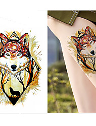 cheap -decal-style-temporary-tattoos-arm-shoulder-temporary-tattoos-3-pcs-totem-series-animal-series-smooth-sticker-safety-body-arts-party-evening-daily