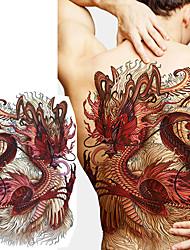 Недорогие -1 pcs Временные татуировки Тату с тотемом / Тату с животными Гладкий стикер / Безопасность Искусство тела назад / Временные татуировки в стиле деколь
