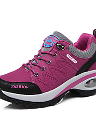cheap -Women's Athletic Shoes Wedge Heel Round Toe Rivet Synthetics Casual Walking Shoes Fall & Winter Dark Grey / Purple / Fuchsia
