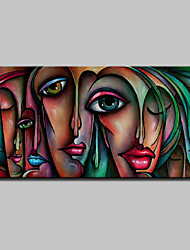 cheap -Mintura® Large Size Hand Painted Abstract Sexy Girl Oil Painting On Canvas Modern Wall Art Pictures For Home Decoration No Frame Rolled Without Frame