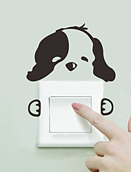 cheap -Cute Dog Light Switch Sticker Wall Stickers - Words &ampamp Quotes Wall Stickers Characters Study Room / Office / Dining Room / Kitchen