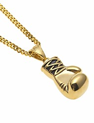 cheap -Men's Pendant Necklace Chain Necklace Cuban Link Boxing Gloves European Trendy Hip-Hop Copper Steel Stainless Silver Gold 60 cm Necklace Jewelry 1pc For Street Gift
