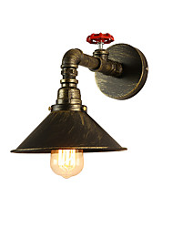 cheap -Vintage Industrial Pipe Wall Lights Metal Shade Restaurant Cafe Bar Wall Sconces 1-Light Painted Finish