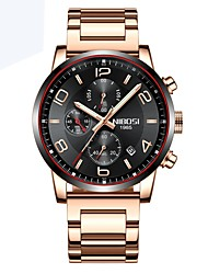 cheap -Men's Wrist Watch Quartz Stainless Steel Black / Silver / Brown Calendar / date / day Chronograph Compass Analog - Digital Classic Casual - Black / Silver Silver / Blue Silver / Red / Noctilucent