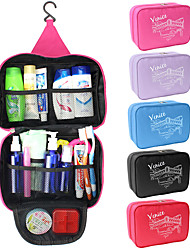 cheap -1pc Travel Bag Travel Organizer Cosmetic Bag Large Capacity Waterproof Moistureproof Foldable Travel Fabric Solid Colored Gift For 25*17*8.5 cm / Durable