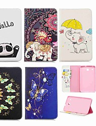 cheap -Case For Samsung Galaxy Tab E 8.0 Wallet / Card Holder / with Stand Full Body Cases Elephant Hard PU Leather