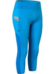 cheap -Women's High Rise Yoga Pants Winter Pocket Solid Color Black White Red Blue Dark Gray Elastane Zumba Running Fitness 3/4 Capri Pants Bottoms Sport Activewear Butt Lift Tummy Control Power Flex 4 Way
