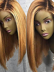 cheap -Virgin Human Hair Lace Front Wig Bob Short Bob Side Part style Brazilian Hair Straight Blonde Wig 180% Density 8-26 inch with Baby Hair Hot Sale Natural Hairline 100% Virgin Women's Short Human Hair