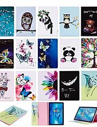 cheap -Case For Huawei Huawei MediaPad M5 10 (Pro) / Huawei MediaPad M5 10 / Huawei MediaPad M5 8 Wallet / with Stand / Flip Full Body Cases Animal Hard PU Leather