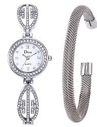cheap -Women's Dress Watch Bracelet Watch Diamond Watch Quartz cuff Stainless Steel Silver 50 m Creative Analog Ladies Elegant - Black Silver Golden One Year Battery Life