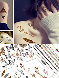 cheap -tattoo-sticker-body-arm-temporary-tattoos-5-pcs-bohemian-theme-butterfly-decorative-body-arts-casual-vacation