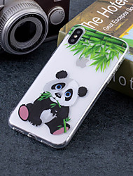 cheap -Case For Apple iPhone X / iPhone 8 Plus / iPhone 8 IMD / Pattern Back Cover Panda Soft TPU