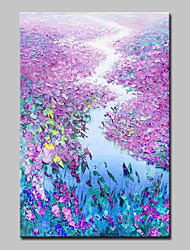 cheap -Mintura® Hand Painted Modern Abstract Knife Flowers Landscape Oil Painting on Canvas Wall Art Picture for Home Decor Ready To Hang