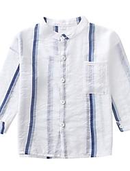 cheap -Kids Boys' Basic Daily Striped Print Long Sleeve Regular Cotton Suit & Blazer White