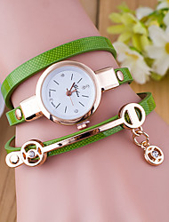 cheap -Women's Ladies Bracelet Watch Wrap Bracelet Watch Quartz Wrap Leather Black / White / Blue Casual Watch Analog Fashion - Green Blue Dark Green