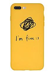 Недорогие -Кейс для Назначение Apple iPhone XS / iPhone XR / iPhone XS Max С узором Кейс на заднюю панель Слова / выражения / Мультипликация Мягкий ТПУ