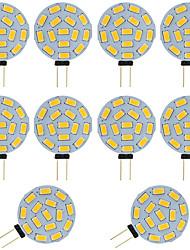 cheap -LED Bi-pin Bulb 10pcs 2W G4 Round 15 SMD 5730 DC AC 12 - 24V Warm Cold White