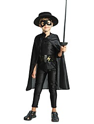 cheap -Cosplay Costume Boys' Kid's Halloween Halloween Carnival Children's Day Festival / Holiday Polyster Outfits Black Solid Colored Halloween