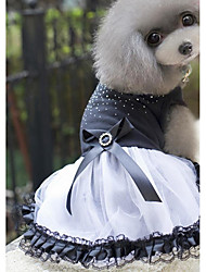 cheap -Dogs Cats Pets Dress Dog Clothes Black Costume Husky Labrador Alaskan Malamute Cotton Jacquard Cotton Crystal / Rhinestone Princess Sports & Outdoors Dresses&Skirts XS S M L XL XXL