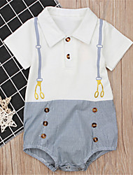 cheap -Baby Boys' Basic Solid Colored Short Sleeves Romper White / Toddler