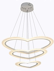 cheap -Oulm 3-Light Linear Chandelier Ambient Light Painted Finishes Aluminum Dimmable 110-120V / 220-240V Dimmable With Remote Control / VDE