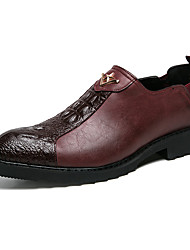 cheap -Men's Formal Shoes PU Spring & Summer / Fall & Winter Casual / British Loafers & Slip-Ons Black / Wine / Party & Evening