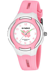 cheap -SYNOKE Men's Women's Sport Watch Digital Watch Japanese Japanese Quartz Quilted PU Leather Black / Blue / Pink 50 m Water Resistant / Waterproof Cute Large Dial Analog Fashion - Purple Blue Pink