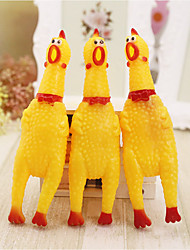 Недорогие -Интерактивный Игрушки с писком Собаки Кролики Коты Животные Игрушки Курица и цыпленок обожаемый Ластик Подарок