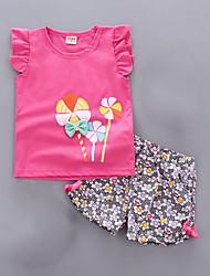 cheap -Toddler Girls' Basic Solid Colored Sleeveless Clothing Set Blushing Pink