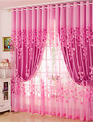 cheap -Curtains Drapes Two Panels Living Room Floral 100% Polyester Jacquard