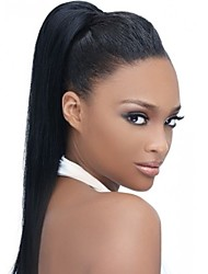 cheap -Virgin Human Hair 360 Frontal Wig With Ponytail style Brazilian Hair Yaki Straight Natural Wig 150% Density with Baby Hair Women Hot Sale Comfortable Women's Long Human Hair Lace Wig Premierwigs
