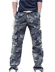 abordables -Homme Chic de Rue Sortie Chino / Pantalon cargo Pantalon - camouflage Vert Vert Claire 34 36 38