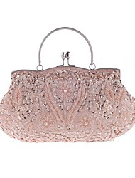 cheap -Women's Beading / Sequin Polyester Evening Bag Wedding Bags Floral Print Purple / Red / Champagne