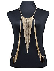 cheap -Body Chain Ladies Hyperbole Fashion Women's Body Jewelry For Club Bar Stylish Alloy Creative Gold 1pc