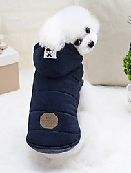 cheap -Rodents Dog Rabbits Jacket Puffer / Down Jacket Puppy Clothes Solid Colored Fashion Euramerican Outdoor Dog Clothes Puppy Clothes Dog Outfits Gray Light Blue Costume for Girl and Boy Dog Cotton S M L