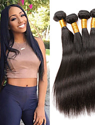 cheap -Remy Human Hair Hair weave Best Quality / New Arrival / Hot Sale Straight Indian Hair Mid Length 400 g 1 Year Dailywear / Wedding Party / Quinceañera & Sweet Sixteen