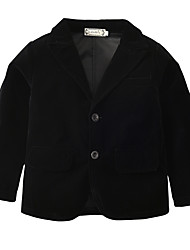 cheap -Kids Toddler Boys' Active Basic Daily Holiday Solid Colored Long Sleeve Regular Cotton Suit & Blazer Black