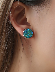 cheap -Women's Stud Earrings Stylish Creative Cheap Ladies Sweet Lolita Trendy Cute Colorful Steel Stainless Earrings Jewelry Green / Pink / Light Blue For Party / Evening Gift Daily 1 Pair
