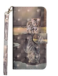 cheap -Case For Samsung Galaxy J7 (2017) / J6 / J5 (2017) Wallet / with Stand / Flip Full Body Cases Cat Hard PU Leather
